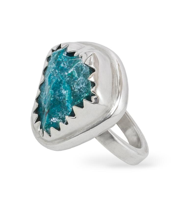 Anel em prata com pedra azul - ICA919